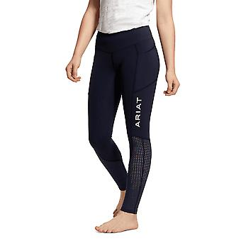 Ariat Youth Eos Knee Patch Tights - Bleu Marine