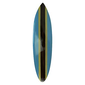 Striped Wooden Mini Surfboard Wall Hanging 39 inch