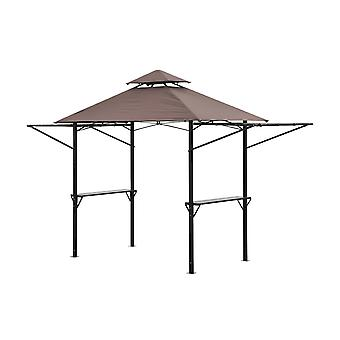 Outsunny 2.5 x 1.5m BBQ Tent Camping Picnic Gazebo Marquee Shelter Portable Waterproof