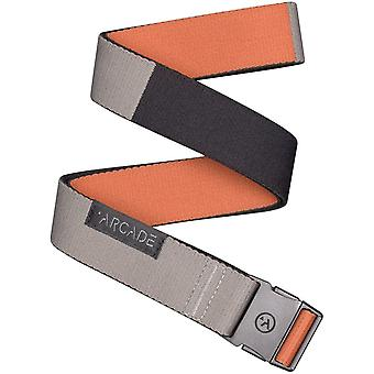 Arcade Ranger Slim Webbing Belt in Deep Copper/ Color Block