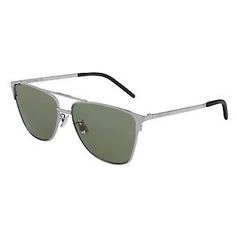 Saint Laurent SL 280 004 Silver/Green Sunglasses