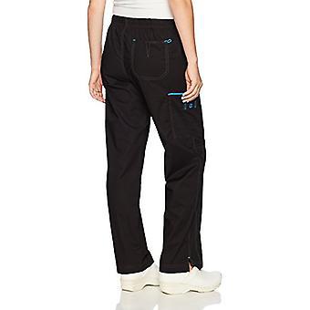 WonderWink Women's Wonderflex Joy Denim Style Staight, Black, Size Large Petite