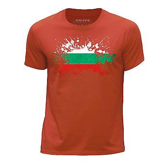 STUFF4 Des jungen Runde Hals T-Shirt/Bulgarien/bulgarische Flagge Splat/Orange