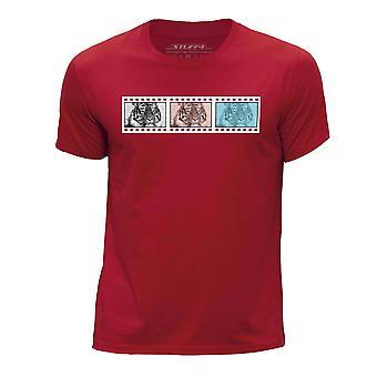 STUFF4 Boy's ronde hals T-T-shirt/Film Strip / dieren / tijger/rood