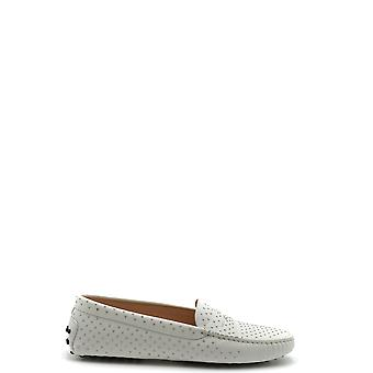 Tod's Ezbc025095 Women's White Leather Loafers