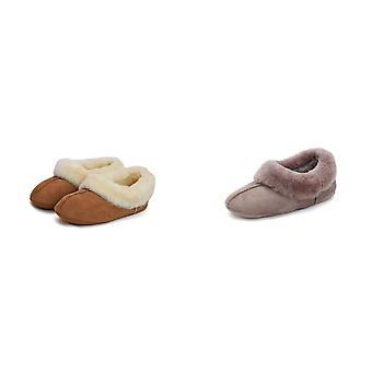 Eastern Counties Leather Womens/Ladies Full Sheepskin Turn Slippers
