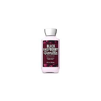 (2 Pack) Bath & Body Works Black Raspberry Vanilla Super Smooth Body Lotion 8 fl oz / 236 ml