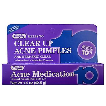 Rugby clear up acne pimples medication gel, 10%, 1.5 oz