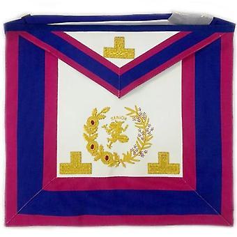 Past grand senior deacon undress apron with hermes emblem