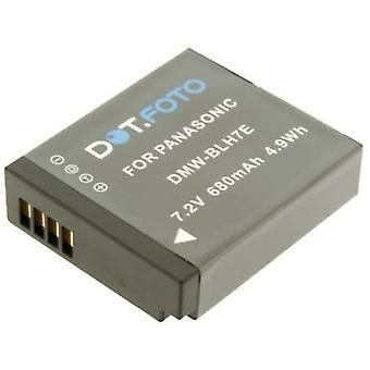 Dot.Foto Panasonic DMW-BLH7E batteri - 7.2V / 680mAh