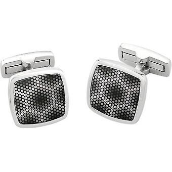 Duncan Walton Amparo Luxury Enamel Cufflinks - Grey