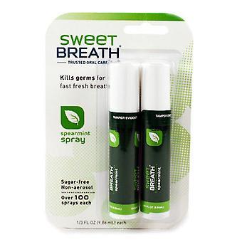 Zoete adem vertrouwde mondverzorging, suikervrij, Kruizemunt spray, 2 ea
