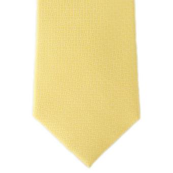 Michelsons Londyn kosz splot Jedwabny krawat - żółty