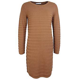 Oui Toasted Coconut Ribbed Dress