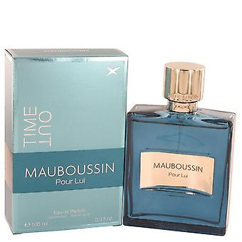 Mauboussin Pour Lui Time Out Eau De Parfum Spray By Mauboussin 3.4 oz Eau De Parfum Spray