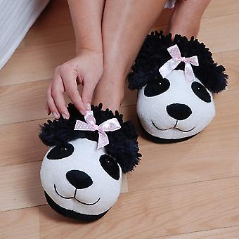 Animal World - Panda Fuzzy Friends Unisex Adult Size Slippers