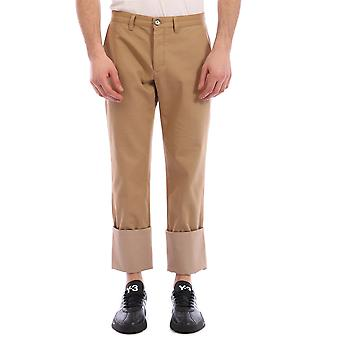 Loewe H2102700ib3150 Men's Brown Cotton Pants