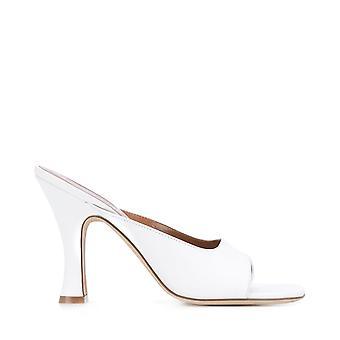 Paris Texas Px216xnpp3bianco Women's White Leather Slippers