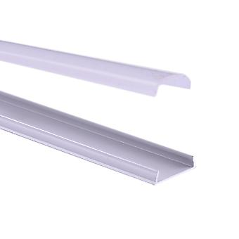 Jandei Flexible aluminum profile for 18x4mm led strip with translucent lid and accessories