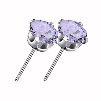 Sterling silver provence lavender earrings created with swarovski® crystals