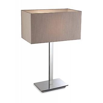 Prince Lamp, Steel, With Pearl Shade