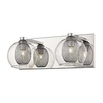 Liverpool Chrome Wall Light 2 Luces