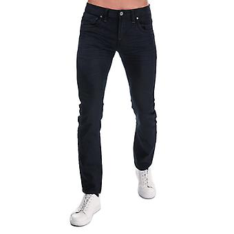 Men's Crosshatch Black Label Menzo Stretch Slim Fit Jeans in Blue