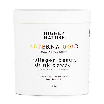 Higher Nature Aeterna Gold Collagen Beauty Drink Powder 80g (AED080)