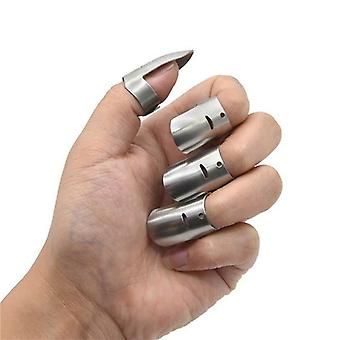 4x Stainless Steel Finger Protection