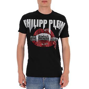 Philipp Plein P20cmtk4473pjy002n02 Miesten&s Musta Puuvilla T-paita