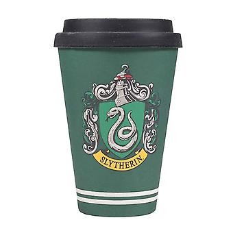 Harry Potter Travel Mug Slytherin House Crest new Bamboo Official Green