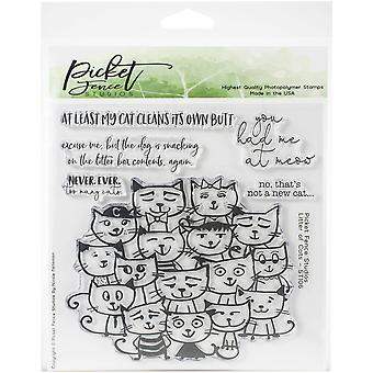Picket Fence Studios Litter of Cats Clear Stamps
