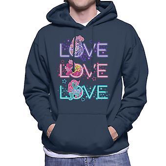 My Little Pony Neon Love Love Love Men's Hooded Sweatshirt