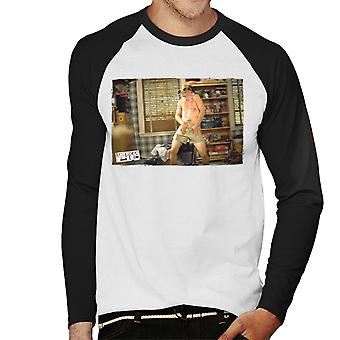 American Pie Jim Dancing Men's Baseball Long Sleeved T-Shirt