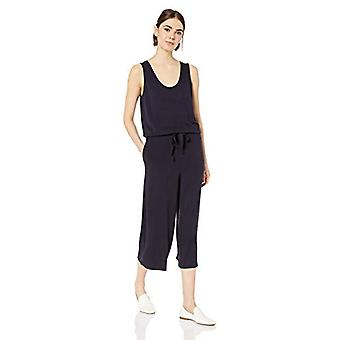 Daily Ritual Women's Supersoft Terry Sleeveless Wide-Leg Jumpsuit, Black, Small