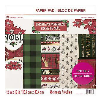 Craft Smith Christmas Farmhouse 12x12 Inch Paper Pad