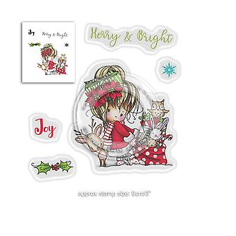 Polkadoodles Winnie Merry & Bright Clear Stamps