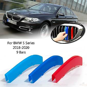 BMW 5-serie 2018-2020 9 Bars Clip In Grill M Power Kidney Stripes Cover