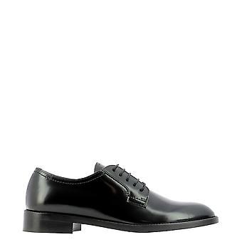 Guglielmo Rotta 5705ttudorblack Women's Black Leather Lace-up Shoes