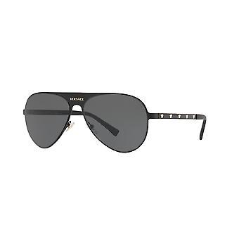 Lunettes de soleil Versace VE2189 142587 Matte Black Grey Mirror