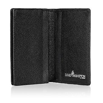 Black Malvern Leather Gusseted Business Card Holder