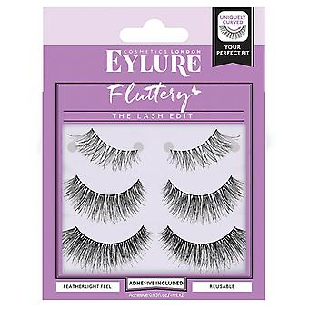 Eylure Fluttery Light The Lash Edit Multipack - Lash Adhesive Included