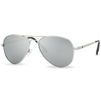 Sunglasses Unisex Polarized Silver with Mirror Lens (P6641212/B)