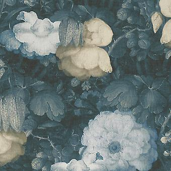 Anke & Daan Amsterdam Vászon Virágos Háttérkép Kék AS Létrehozása 36921-3