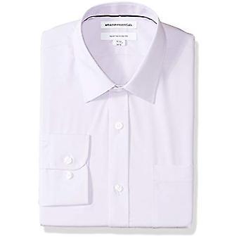 """Essentials Men's Regular-Fit Falten-resistente Langarm-Massivkleid Shirt, Lavendel, 15"""" Hals 34""""-35"""" Ärmel"""