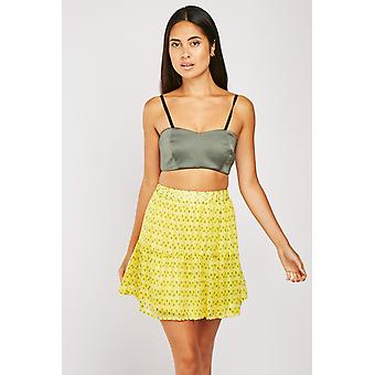 Leaf Printed Sheer Rara Skirt