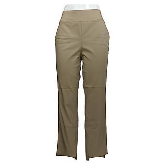 Martha Stewart Femmes-apos;s Pantalon Stretch Twill Pull On W/ Hem Beige A365211
