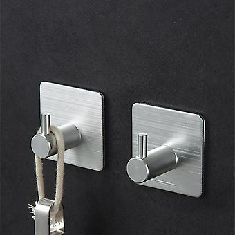 Adhesive Aluminum Alloy Towel Hooks Wall Hangers
