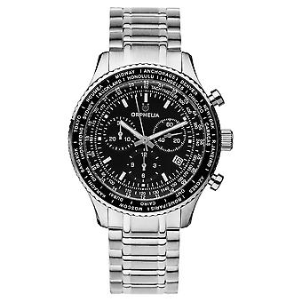 ORPHELIA Men Chronograph Watch Master Silver Stainless steel OR82703