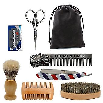 Beard Grooming Kit - Trimming Shaving Brush Comb Beard Set
